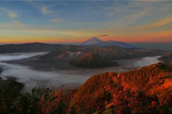Couché de soleil en Indonésie