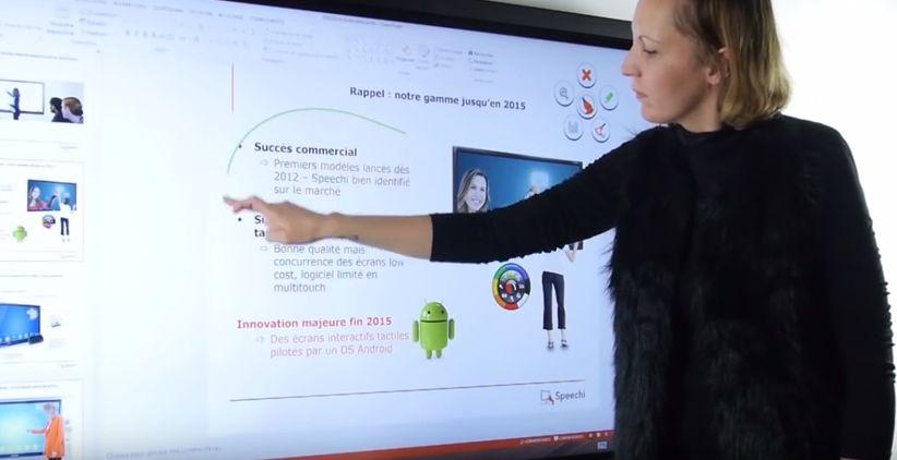 ecran interactif grande taille